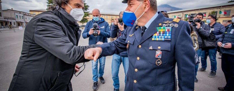 """Vaccini drive through alla Berardi, Alaia: """"Dall'Esercito un prezioso contributo"""""""