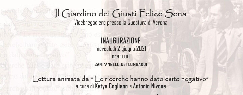 """Sant'Angelo dei Lombardi, il 2 giugno si inaugura il """"Giardino dei Giusti Felice Sena"""""""