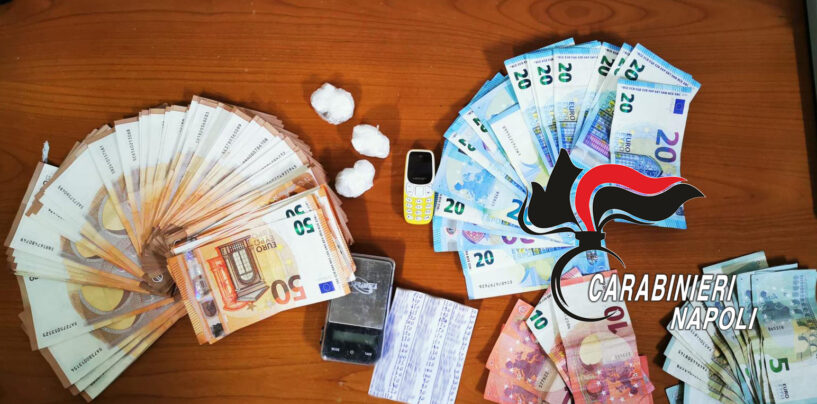 Volla, coppia di pusher arrestata: trovati in casa cocaina e oltre 5mila euro in contante