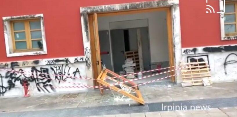 Avellino, devastato nella notte un ingresso dell'Ex Gil /VIDEO