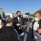 """FOTO E VIDEO / Mercato, ripresa ad andamento lento. Il sindaco: """"Nessuna preoccupazione sotto l'aspetto sanitario"""""""