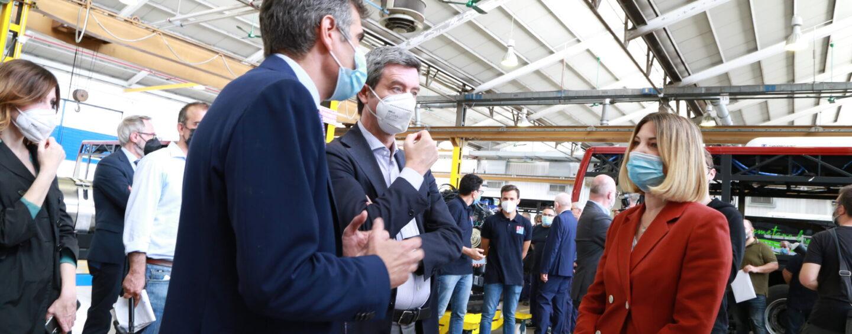 FOTO / Industria Italiana Autobus, il ministro Orlando visita lo stabilimento di Bologna