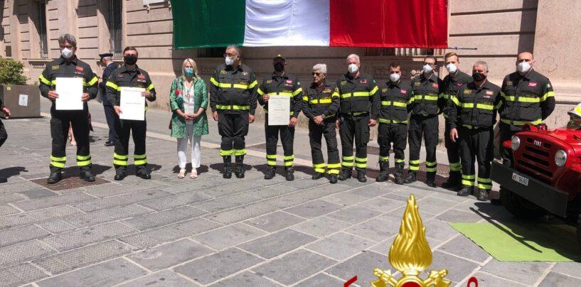Tre neo Cavalieri tra i Vigili del Fuoco di Avellino