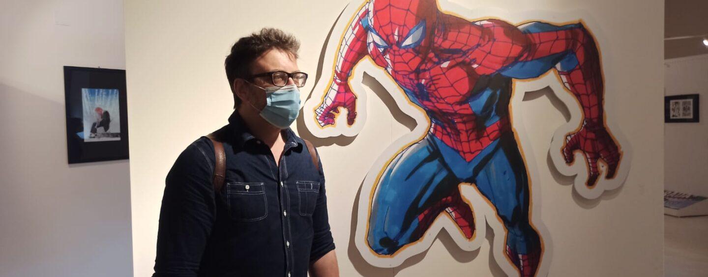 """FOTO / """"Disegnerei Spider Man tutta la vita, ma oggi i veri supereroi sono medici e infermieri"""". Cammo, finalmente, ad Avellino"""