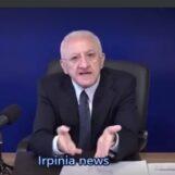 """De Luca: """"Sindaci irpini imbecilli, a Solofra non riaprirà il pronto soccorso""""/VIDEO"""
