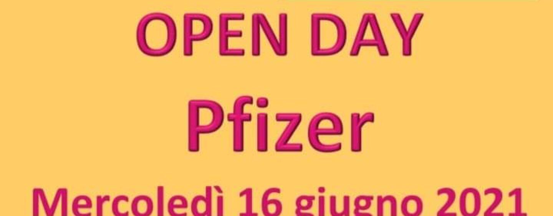 Open day Pfizer,16 e 18 giugno: domani aperte le prenotazioni