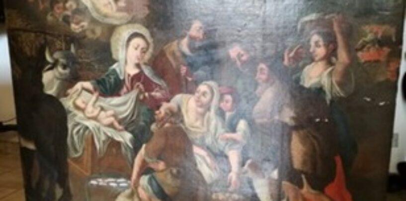 Massalubrense: i Carabinieri per la Tutela del Patrimonio Culturale recuperano dipinto rubato sette anni fa da una chiesa