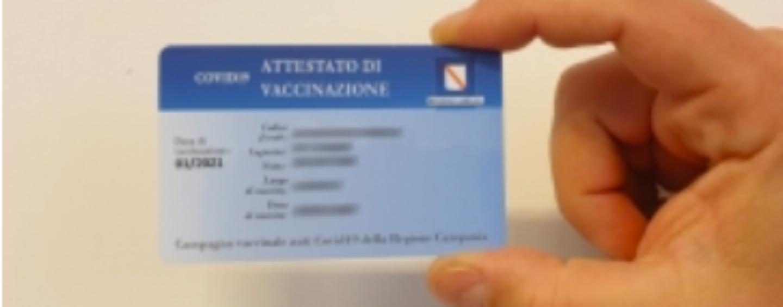 Ariano Irpino: ritiro tessere vaccinali mancanti per i vaccinati seconda dose effettuata  dal 13 giugno al  3  agosto 2021