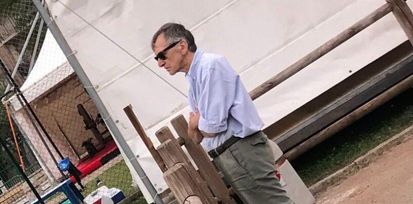 FOTO/ Lupi in ritiro a Roccaraso, anche l'ex Procuratore Cantelmo assiste agli allenamenti