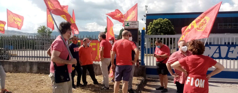 """""""No alla macelleria sociale"""". Sit in Cgil e Fiom Cgil a Morra de Sanctis"""