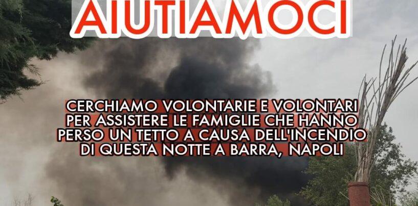 Napoli, brucia il campo Rom di Barra: l'allarme di Emergency