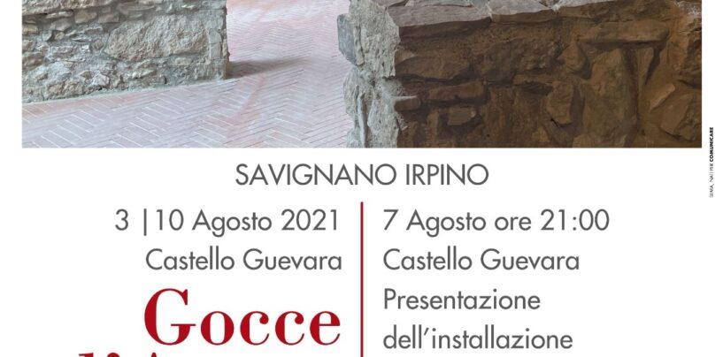 """Savignano Irpino ospita l'installazione artistica """"Gocce d'acqua"""""""