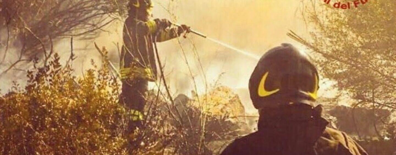 Incendi, situazione complessa a Santa Paolina: i caschi rossi salvano vigne e abitazioni