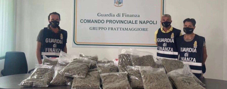 Frattamaggiore, droga sottovuoto: 22 Kg di marijuana nascosti in tre pacchi