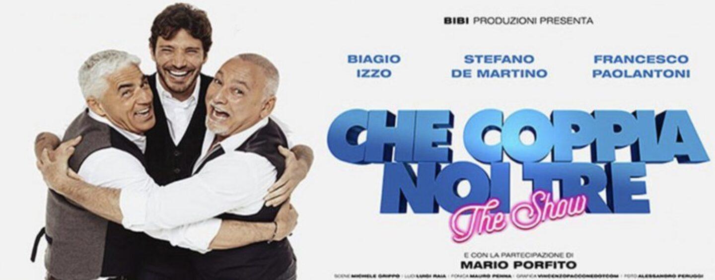 "Avellino, Smile Arena: tour teatrale ""Che coppia noi tre"""