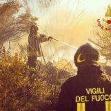 """Boschi in fiamme, giornata di """"fuoco"""" ieri in Irpinia e per i caschi rossi"""