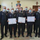 Avellino: Medaglia Mauriziana al Merito per i luogotenenti carica speciale dei Carabinieri, Fresa, Finale e Moschella