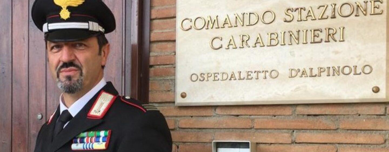 Carabinieri Ospedaletto d'Alpinolo: il maresciallo capo Luciano Perrone nuovo comandante
