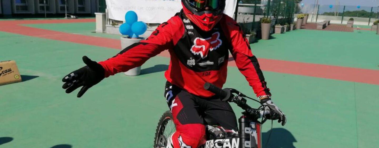 FOTO / Autismo, la mototerapia a Sant'Angelo dei Lombardi con l'asso delle due ruote Dal Farra