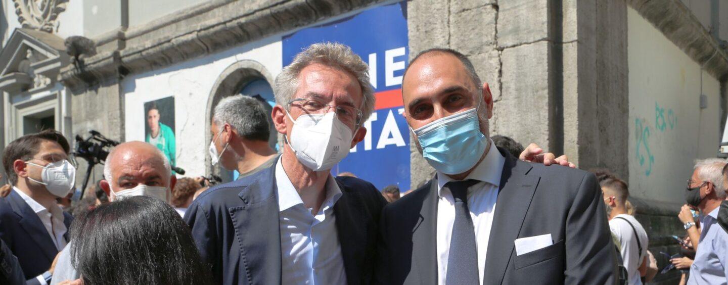 FOTO / Amministrative: Gubitosa a Napoli per sostenere Manfredi