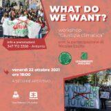 """""""What Do We Want?"""" domani ad Avellino il Workshop sulla Giustizia Climatica"""