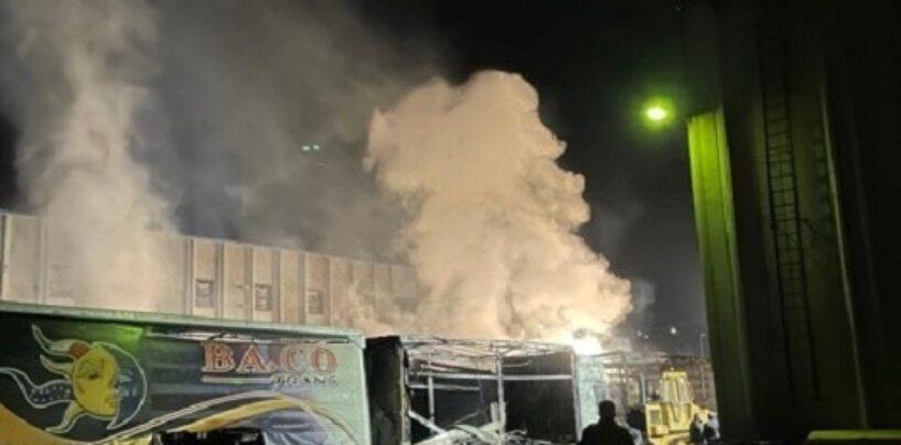 Incendio Montefredane , ecco i primi dati Arpac sulla qualità dell'aria