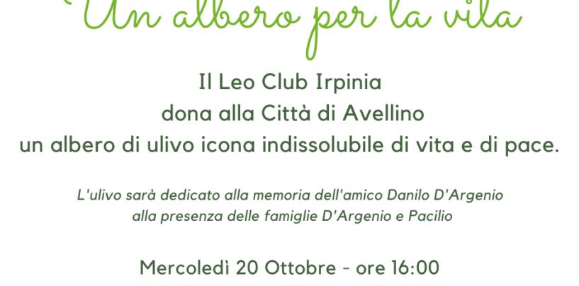 Distretto Leo 108Ya, donato albero di Ulivo ad Avellino. Domani la piantumazione a Parco Palatucci