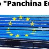 Una panchina con i colori della bandiera europea a Grottaminarda