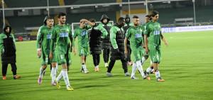 Il fischio finale del match contro il Perugia