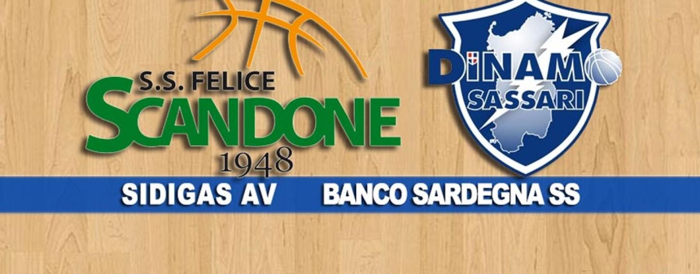 Basket, Sidigas beffata nel finale: Sassari passa ad Avellino 90-88