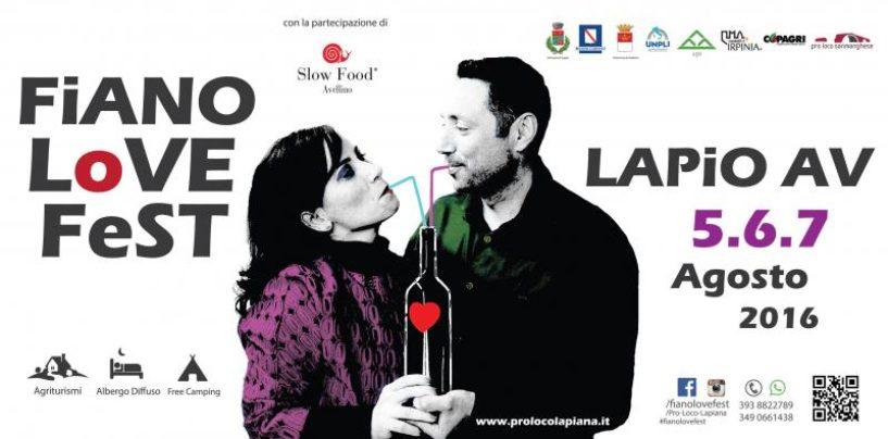 Fiano Love Fest, tre giorni di musica ed eno-gastronomia a Lapio