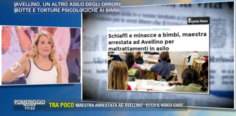 """L'asilo degli orrori di Avellino, mamma Margherita a Pomeriggio 5: """"Le mie figlie hanno ancora paura"""""""