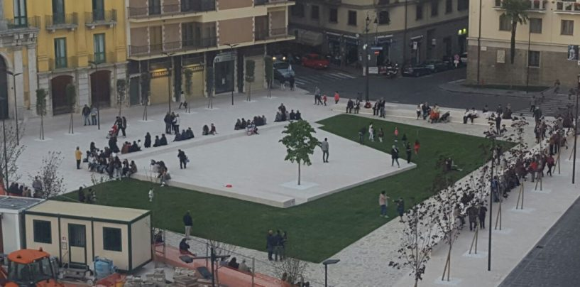 FOTO/ Piazza Libertà: in fase di ultimazione la principale agorà avellinese