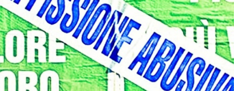 Avellino – Affissioni abusive, la Polizia municipale fa scattare il divieto