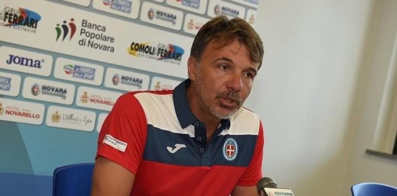 """Calcio – Baroni carica il Novara: """"Un'opportunità per noi giocare contro l'Avellino"""""""