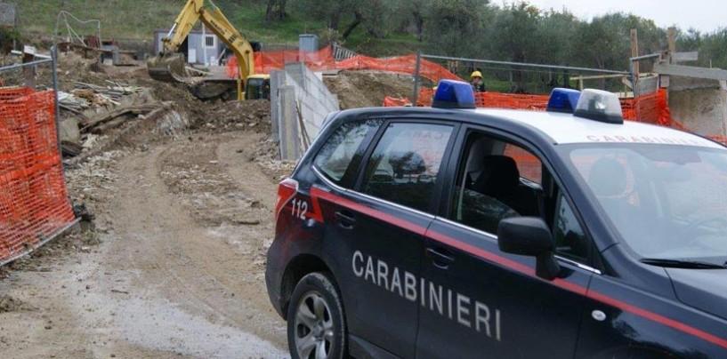Lavoratori in nero nei cantieri di Trevico e Vallesaccarda, tre denunce