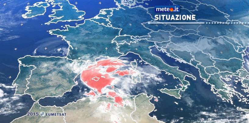 Ciclone in arrivo – Rischio nubifragi a partire dalla Sardegna
