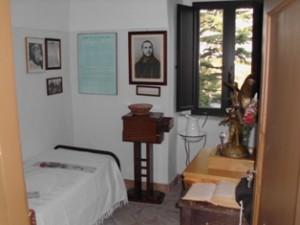 La cella di San Pio nel convento di Sant'Egidio