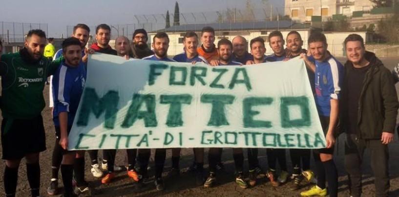 """""""Forza Matteo"""". Solidarietà per il piccolo tifoso biancoverde anche dalle serie minori"""