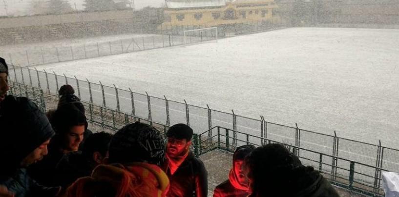 FOTO/ Neve in Irpinia, tutte le gare di calcio rinviate del week-end