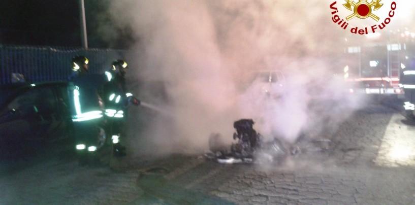 A fuoco automobile a Pianodardine, nessun ferito