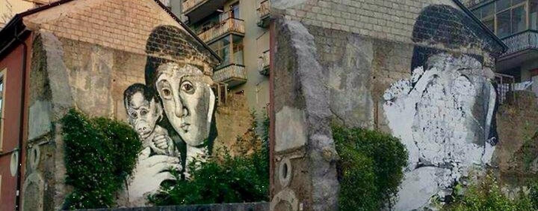 """Il murales della discordia, Cipriano: """"Distruggere segni dell'arte dimostra arretratezza culturale"""""""
