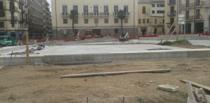 Avellino, in Piazza Libertà riprendono i lavori per le fontane