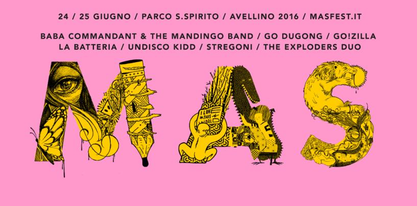 Mas Fest 2016 il 24 e 25 giugno la XII edizione a Parco Manganelli. L'info point lungo il Corso di Avellino
