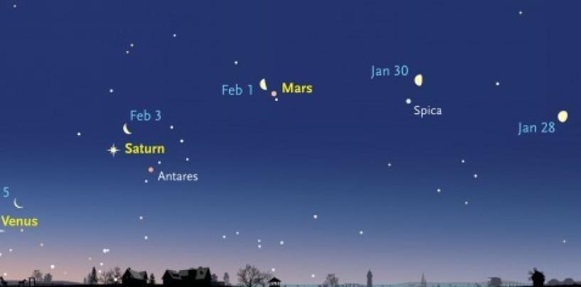 """Cinque pianeti come in """"Parata"""", spettacolo nei cieli irpini"""