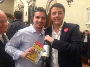 """Matteo Renzi riceve in dono una bottiglia del """" Galeotto"""""""