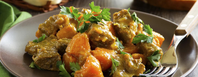Ricette veloci – Spezzatino di tacchino con zucca e olive