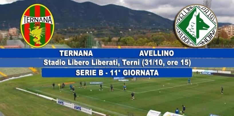 Ternana – Avellino, le probabili formazioni: lupi, possibile conferma dell'undici anti-Ascoli