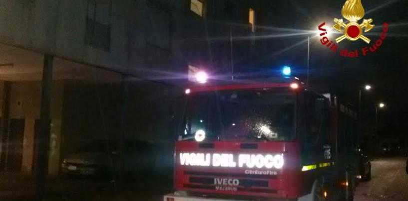 Incendio in un'abitazione di Rione Valle